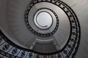 One of the reasons for the building to be treated as a monument - the spiral stairway
